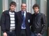 Il Presidente della FIGB Gianni Medugno fra Alessandro Gandoglia e Massimiliano Di Franco
