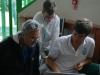 Il coach Gianpaolo Rinaldi con Giovanni Donati e Alessandro Gandoglia