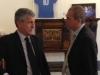 Il Vice Direttore di Rai Sport Jacopo Volpi e il Presidente della FIGB Gianni Medugno