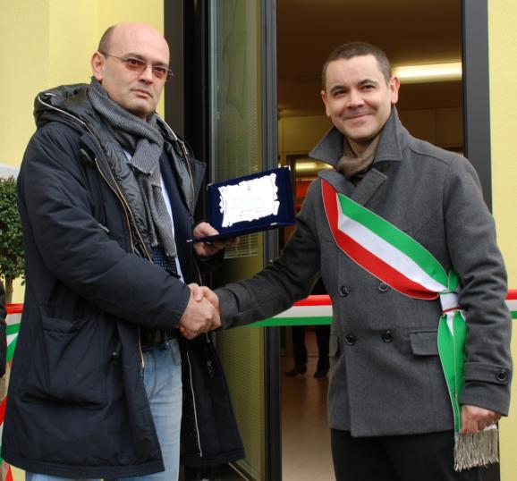 Andrea Dalpozzo e il sindaco Filippo Molinari
