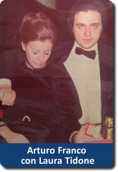 Arturo Franco e Laura Tidone