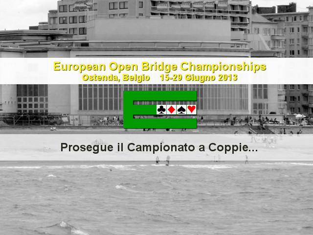 European Open Championships 2013: aggiornamenti dal Coppie