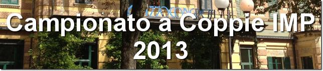 Campionato Italiano a Coppie IMP 2013