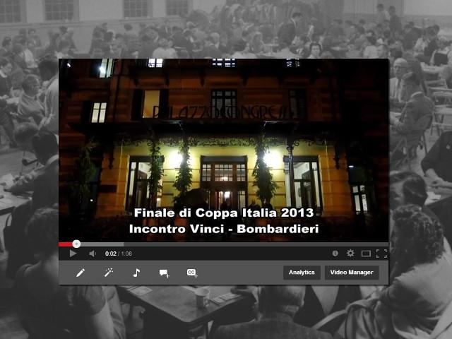 Video Flash dalla Coppa Italia 2013: incontro Vinci-Bombardieri