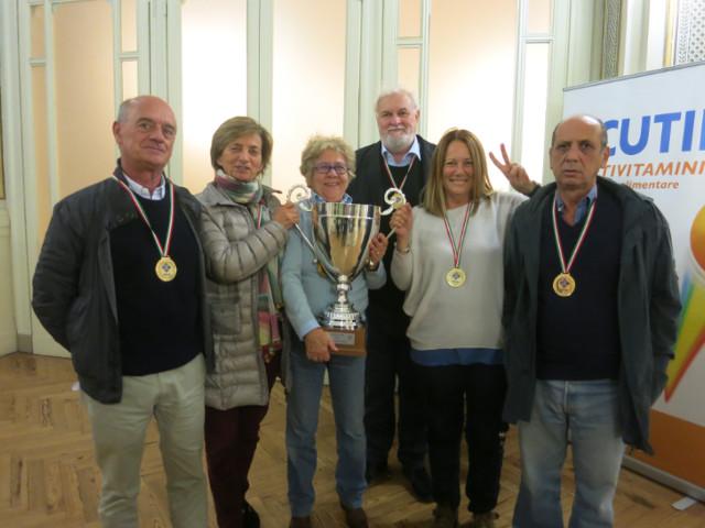 I vincitori della Coppa Italia a Squadre Miste