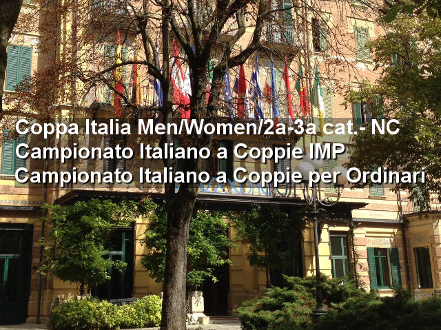 Aggiornamenti dai tre Campionati in corso a Salsomaggiore Terme
