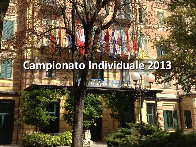 Campionato Individuale 2013: Galleria Fotografica delle Premiazioni