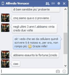 Facebook Alfredo Versace