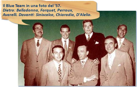 Blue Team, Belladonna, Forquet, Perroux, Avarelli, Siniscalco, Chiaradia, D'Alelio