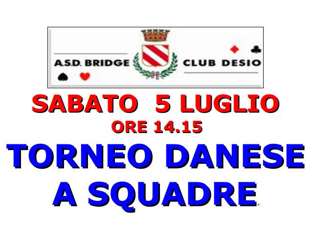 DESIO (MB): 5 Luglio Torneo Danese a Squadre