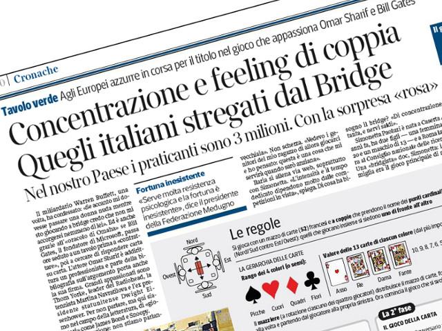 """Il Bridge su """"Il Corriere della Sera"""""""