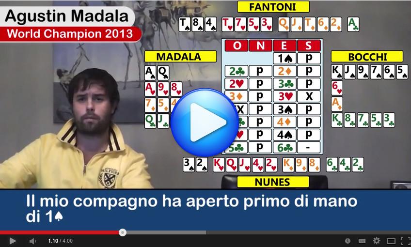 Video: Agustin Madala racconta una mano della Spingold