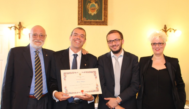 Salsomaggiore Terme sede dei mondiali giovanili 2016; Il Presidente FIGB Gianni Medugno eletto cittadino onorario