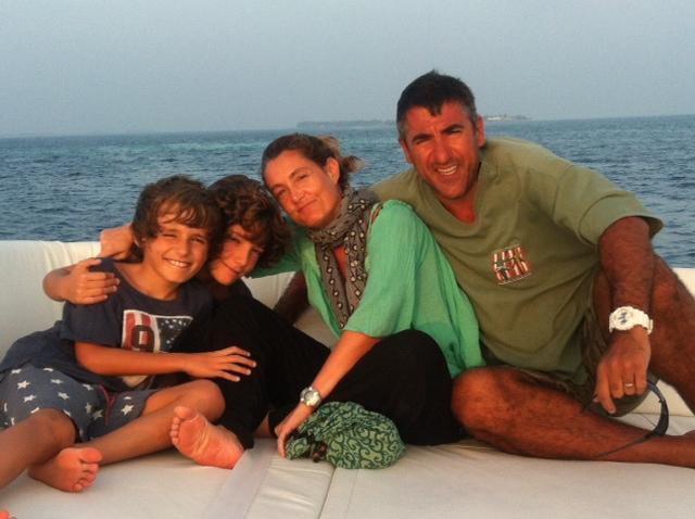 Nicola Del Buono con la sua famiglia