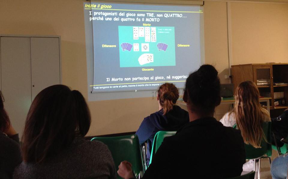 Lezione di Bridge al Liceo Cambi di Falconara