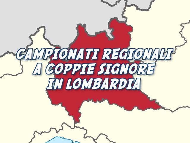 Campionato Regionale a Coppie Signore in Lombardia: le vincitrici