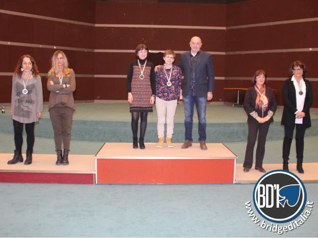 Assoluti a Coppie 2015 - podio Femminile