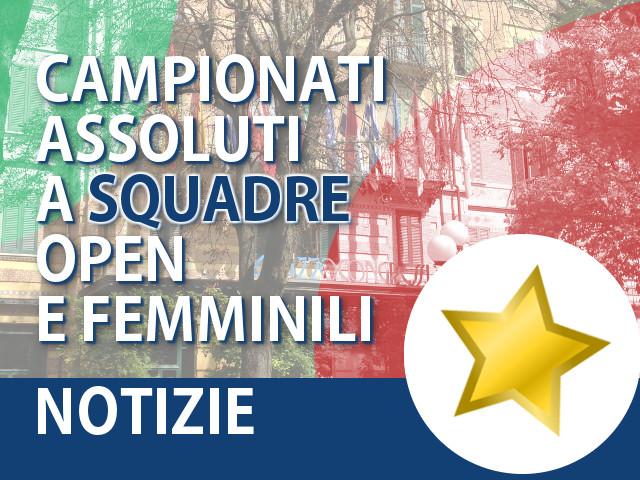 Campionati Assoluti a Squadre Open e Femminili 2015