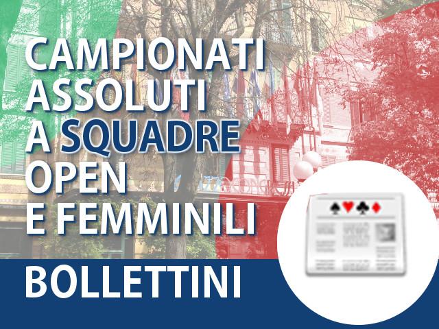 Bollettini dei Campionati Italiani a Squadre Open/Femminili 2015