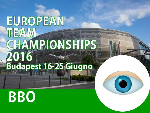 Campionati Europei a Squadre: incontri su BBO