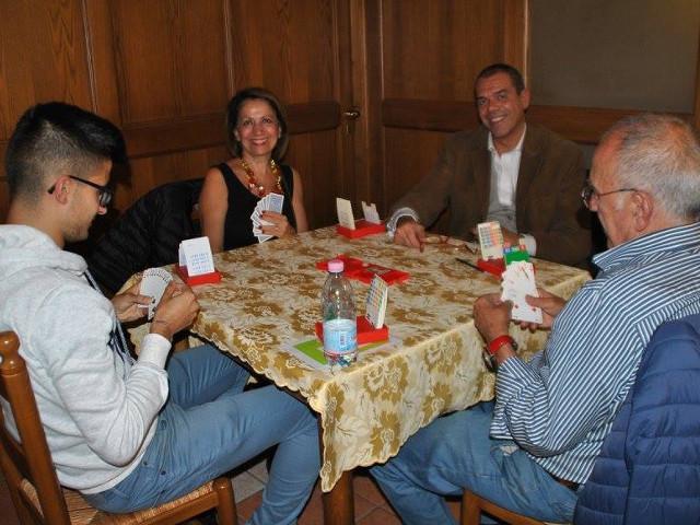 Il Presidente FIGB Gianni Medugno al tavolo con Roberto Sau