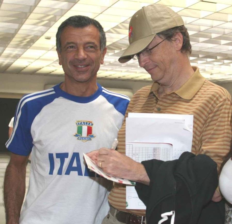 Bill Gates ai mondiali a Verona
