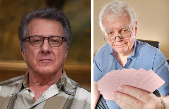 "Dustin Hoffman interpreta Bob Hamman nel film ""The Program"""