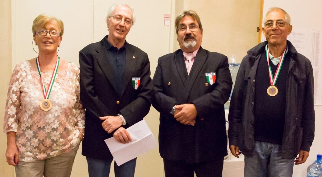 Giovanna Lorenzi e Angelo Benvenuto Campioni italiani nell'individuale